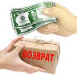 Возврат денег за товар по закону о защите прав потребителей